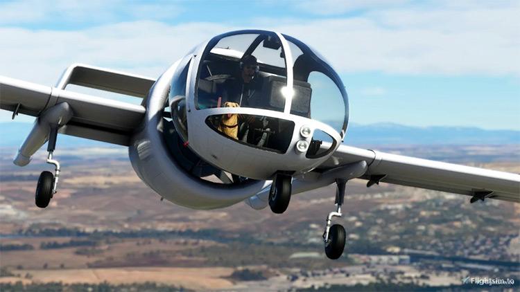 EA-7 Edgley Optica mod for Microsoft Flight Simulator