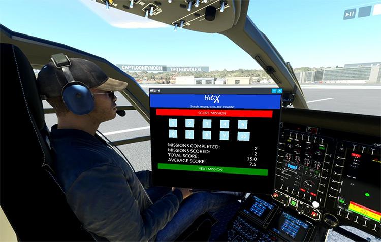 Heli-X Helicopter Mission Generator mod for Microsoft Flight Simulator