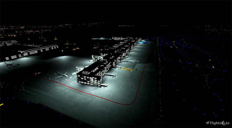 More Airport Lights mod for Microsoft Flight Simulator