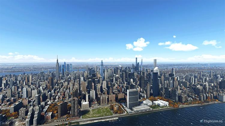 New York City Landmarks mod for Microsoft Flight Simulator