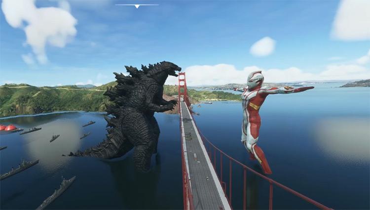 Anime Sci-Fi Scenery mod for Microsoft Flight Simulator