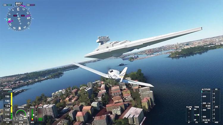 Star Wars Scenery mod for Microsoft Flight Simulator