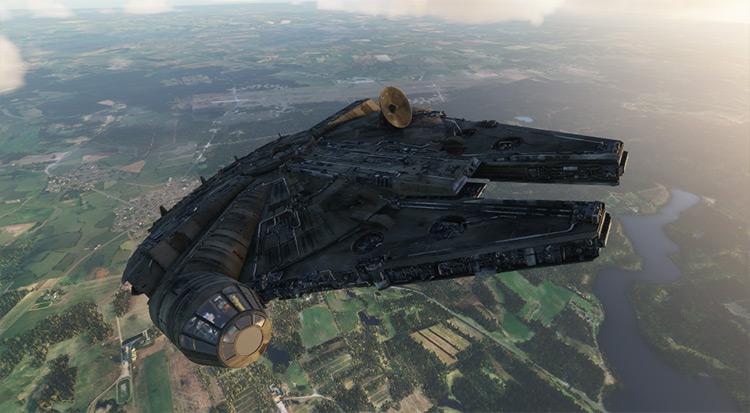 Star Wars Ships mod for Microsoft Flight Simulator