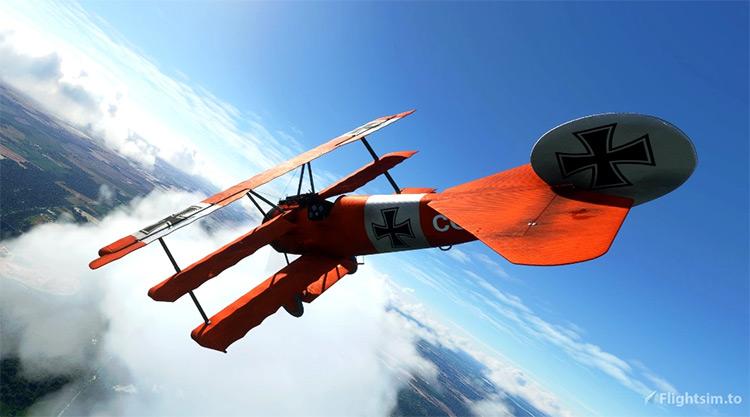 Fokker DR.1 Triplane mod for Microsoft Flight Simulator