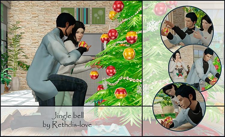Jingle Bell Poses / Sims 4 CC