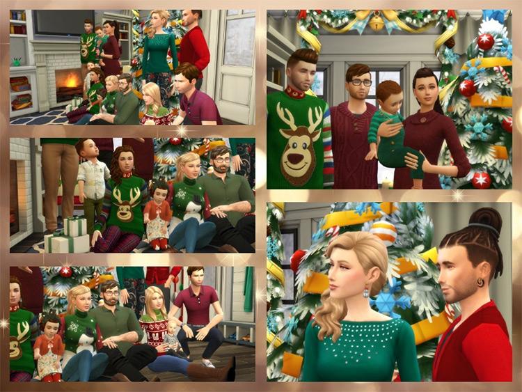 Christmas Big Family Poses / Sims 4 CC
