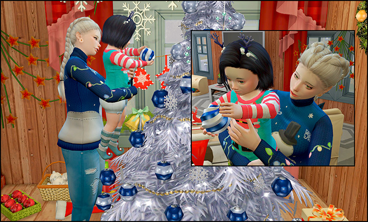My First Christmas Pose Pack / Sims 4 CC