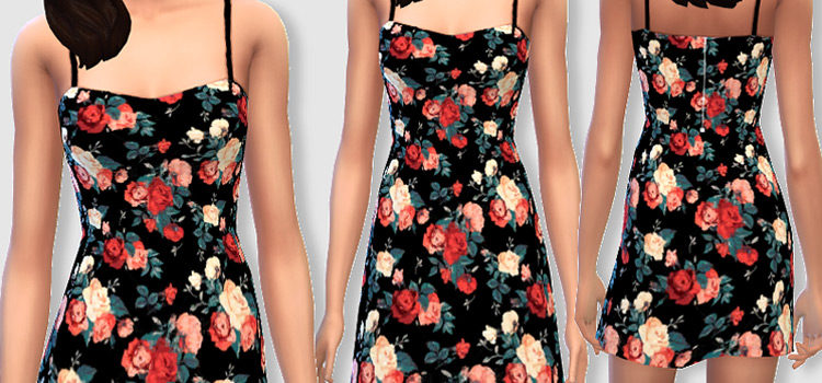 Sims 4 Floral Dress CC (All Free To Download)