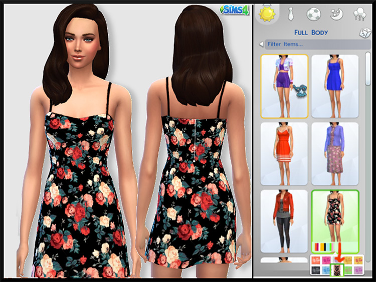 Everyday Floral Dress / TS4 CC