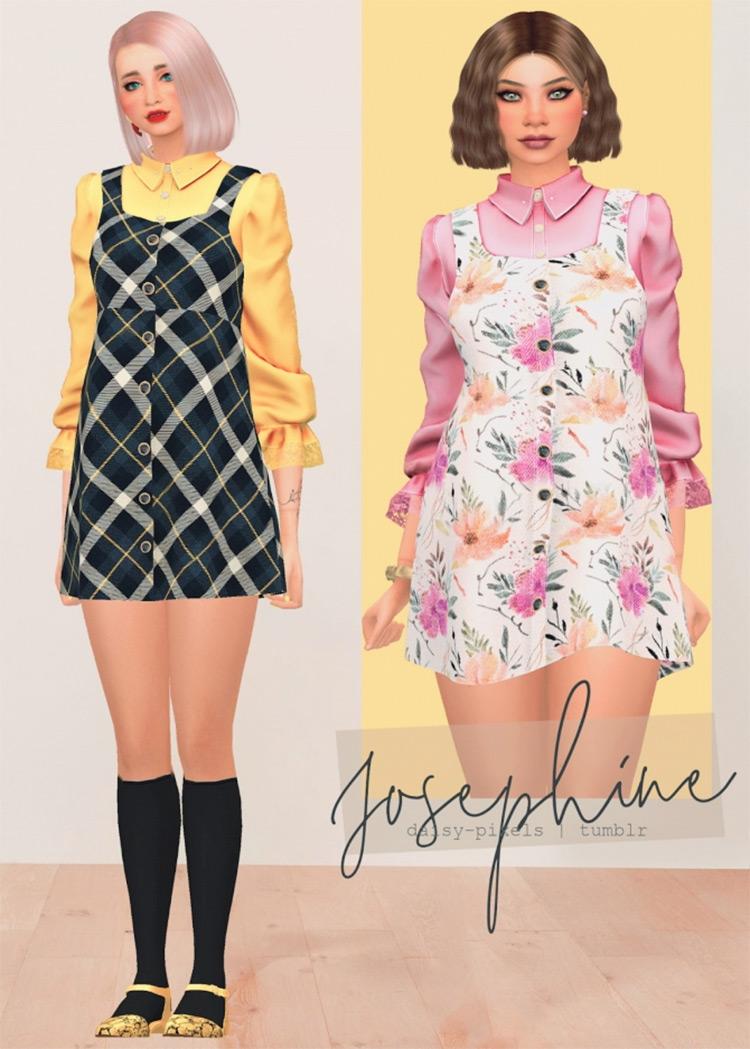 Josephine Dress / Sims 4 CC
