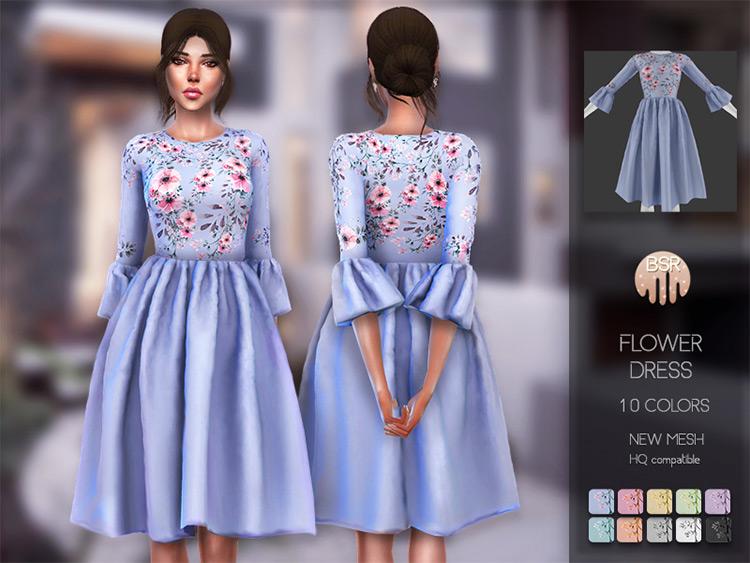Flower Dress BD115 / TS4 CC