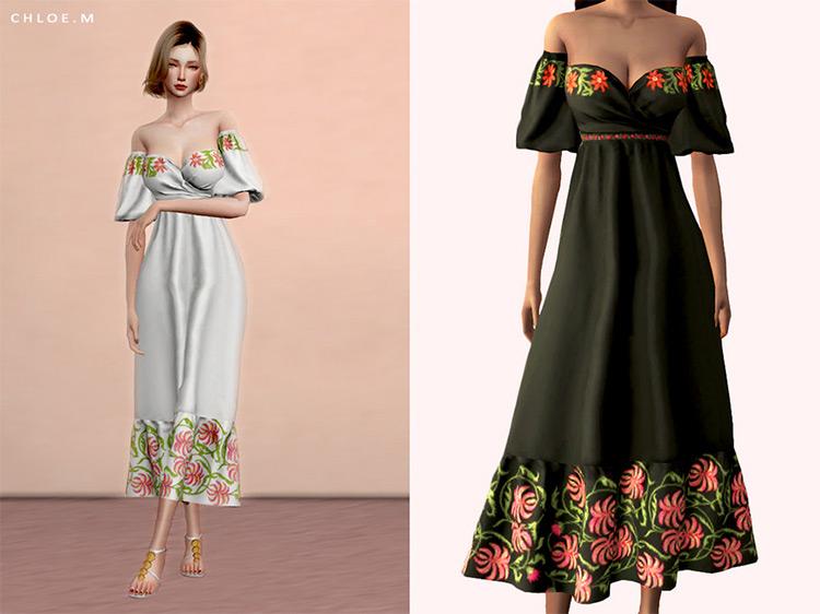 Chloem's Flower Dress / Sims 4 CC