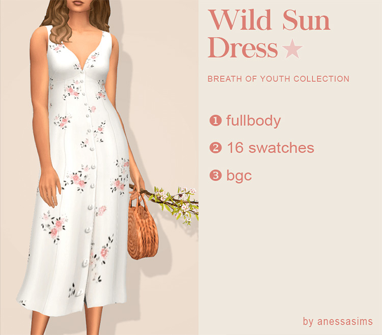 Wild Sun Dress for The Sims 4