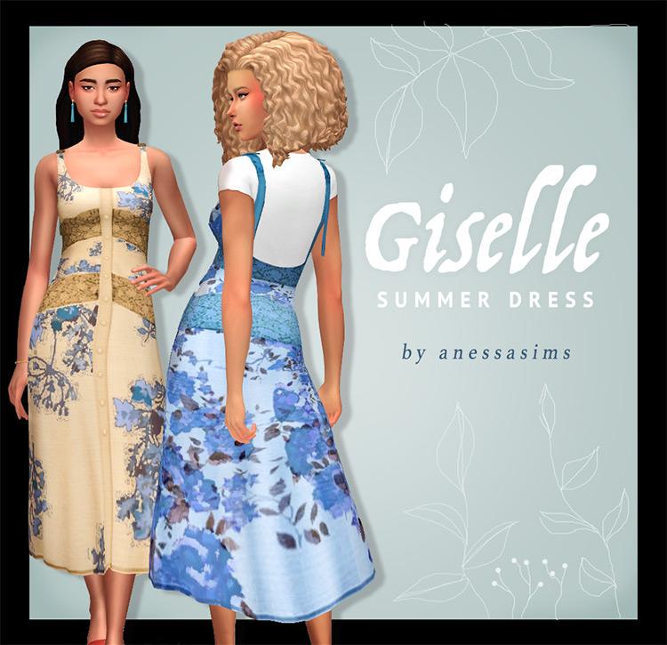Giselle Summer Dress / Sims 4 CC