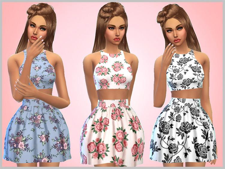 Floral Dress Set / TS4 CC