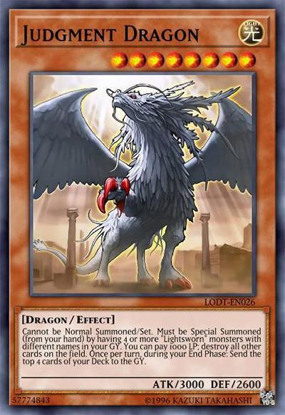 Judgment Dragon YGO Card