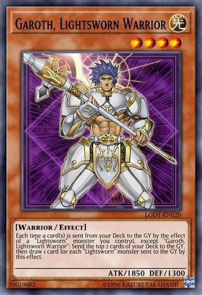 Garoth, Lightsworn Warrior YGO Card