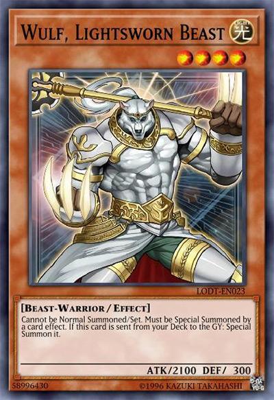 Wulf, Lightsworn Beast YGO Card