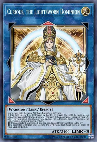 Curious, the Lightsworn Dominion YGO Card