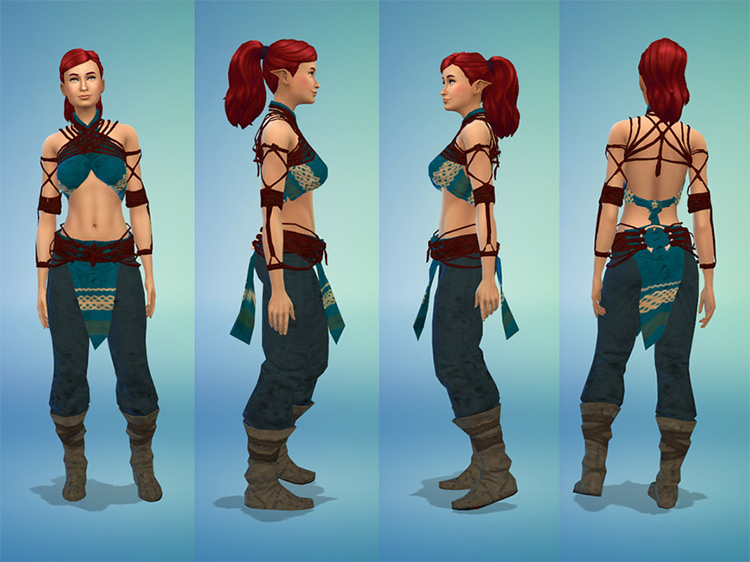 Female Antaam-saar Armor / Sims 4 CC