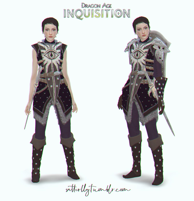 Cassandra Heavy Armor for The Sims 4
