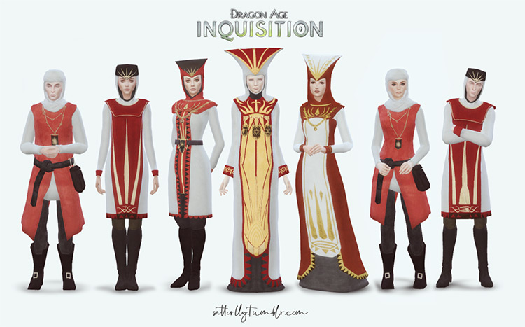 Chantry Outfits (Dragon Age) TS4 CC