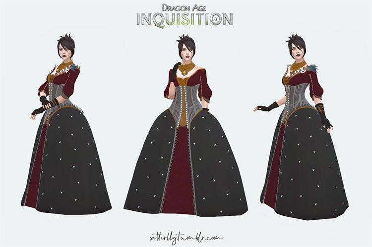 Morrigan's Orlesian Ball Gown / Sims 4 CC