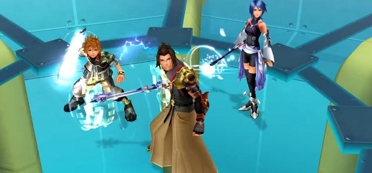 Aqua, Terra & Ventus in KH: BbS (HD Screenshot)