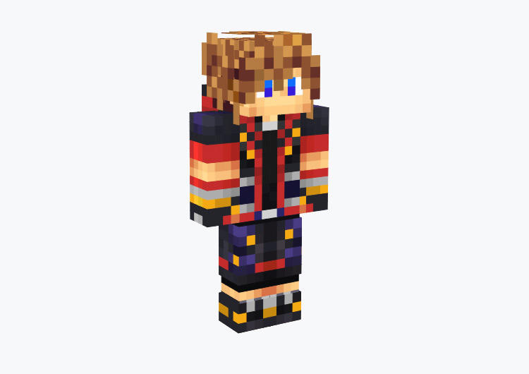 Sora's KH3 Outfit / Minecraft Skin