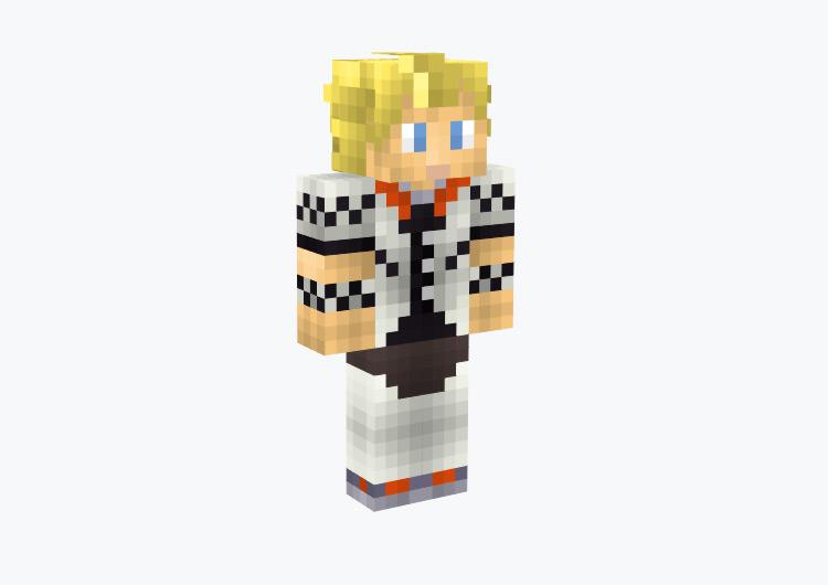 Roxas from Kingdom Hearts 2 / Minecraft Skin