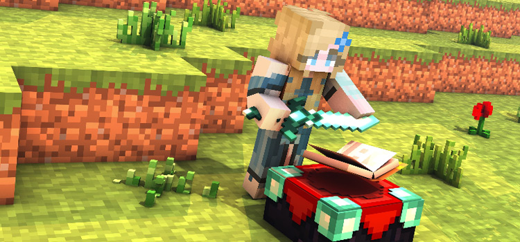 Fairytale Girl Minecraft Skin with Fairycore Crafting Table