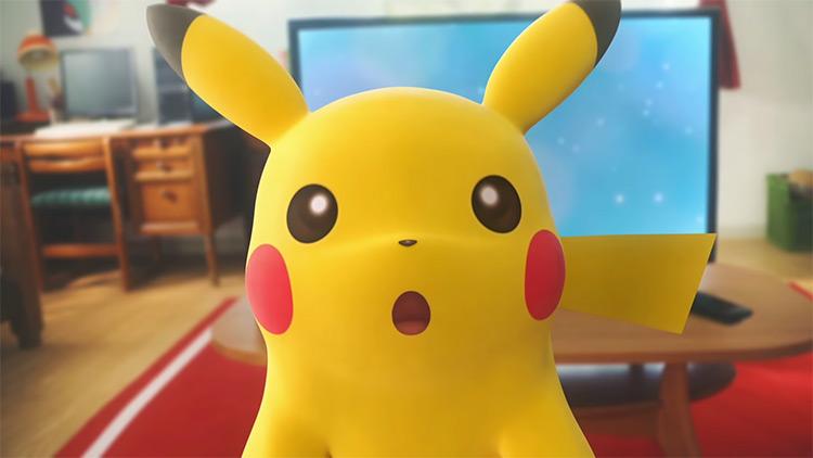 Pikachu from Let's Go Pikachu screenshot