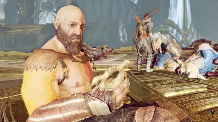 Kratos from God of War 4