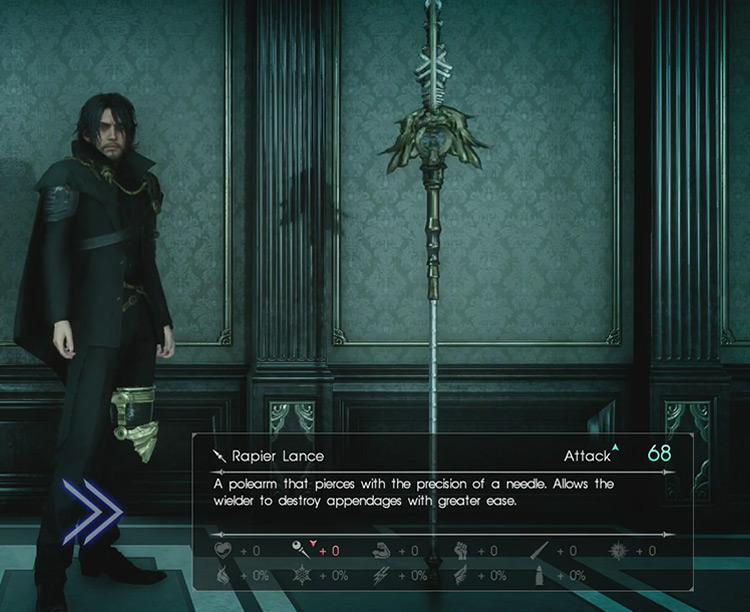 FFXV Rapier Lance screenshot