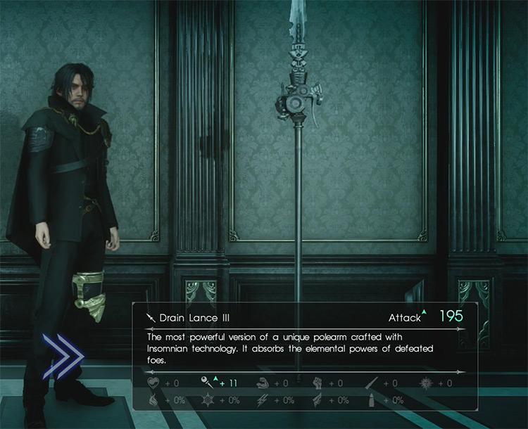 FFXV Drain Lance III screenshot
