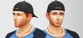 Backwards Hat in The Sims 4 (Male Accessory)