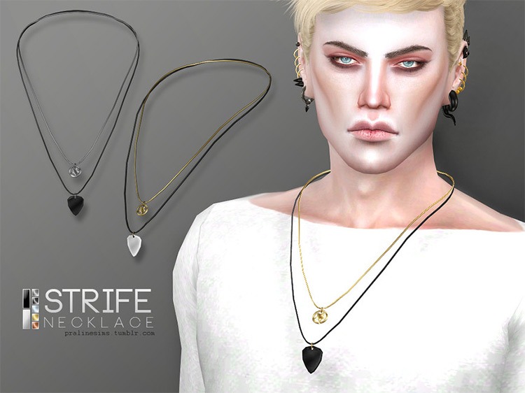 Male Strife Necklace for The Sims 4