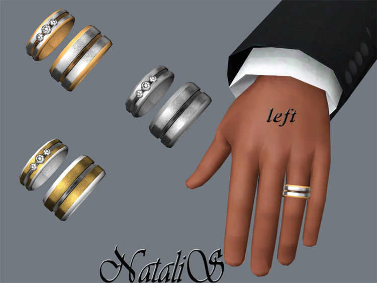 Carved Wedding Ring / Sims 4 CC