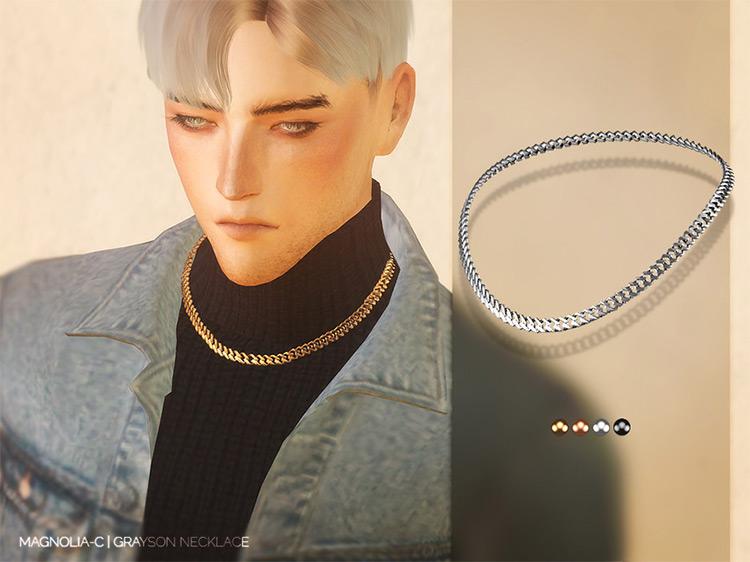 Magnolia Necklace For Men / TS4 CC
