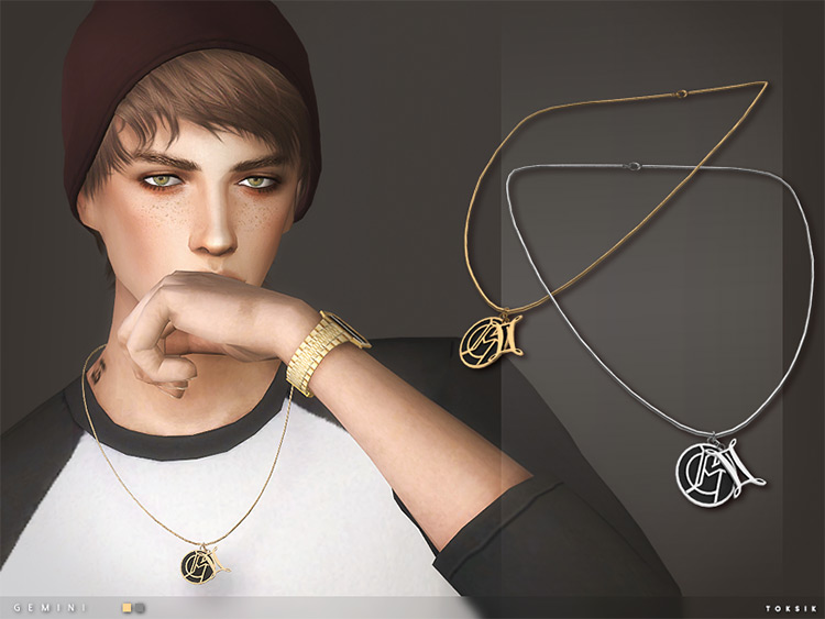 Gemini Necklace for The Sims 4