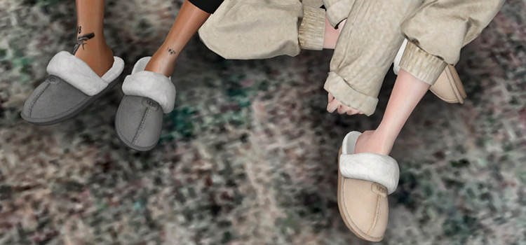 UGG Coquette Slippers CC (The Sims 4)