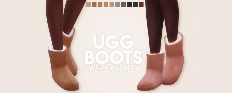 Ugg Boots Retexture / TS4 CC