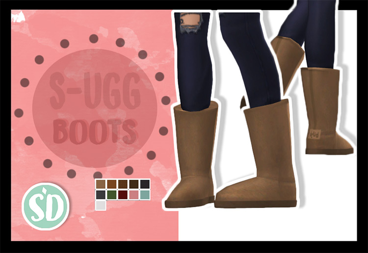 S-Ugg Boots For Fall/Winter for The Sims 4