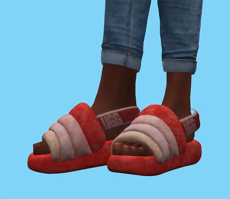 Ugg Fluff Yeah Slides / Sims 4 CC