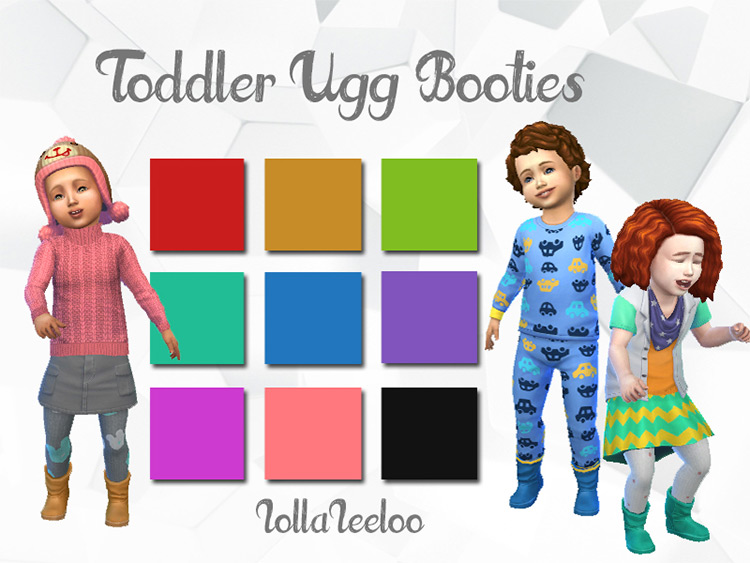 Toddler Ugg Booties for The Sims 4