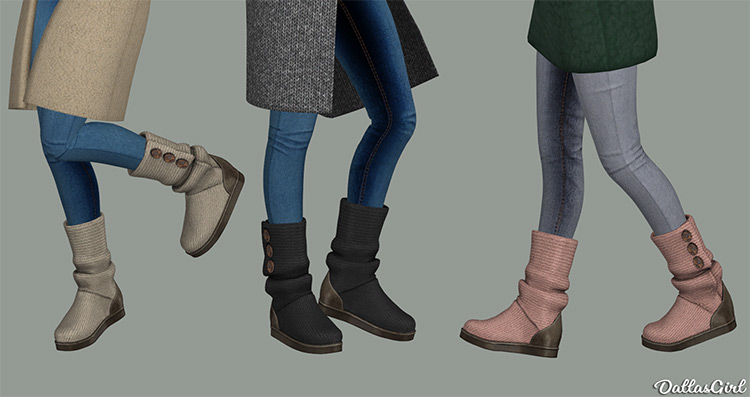 Ugg Classic Cardy Boots / Sims 4 CC