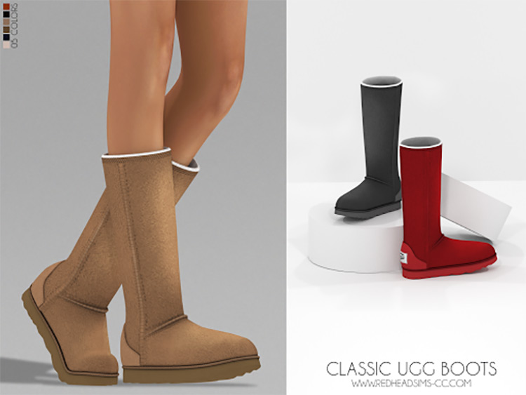 Classic Ugg Boots for The Sims 4