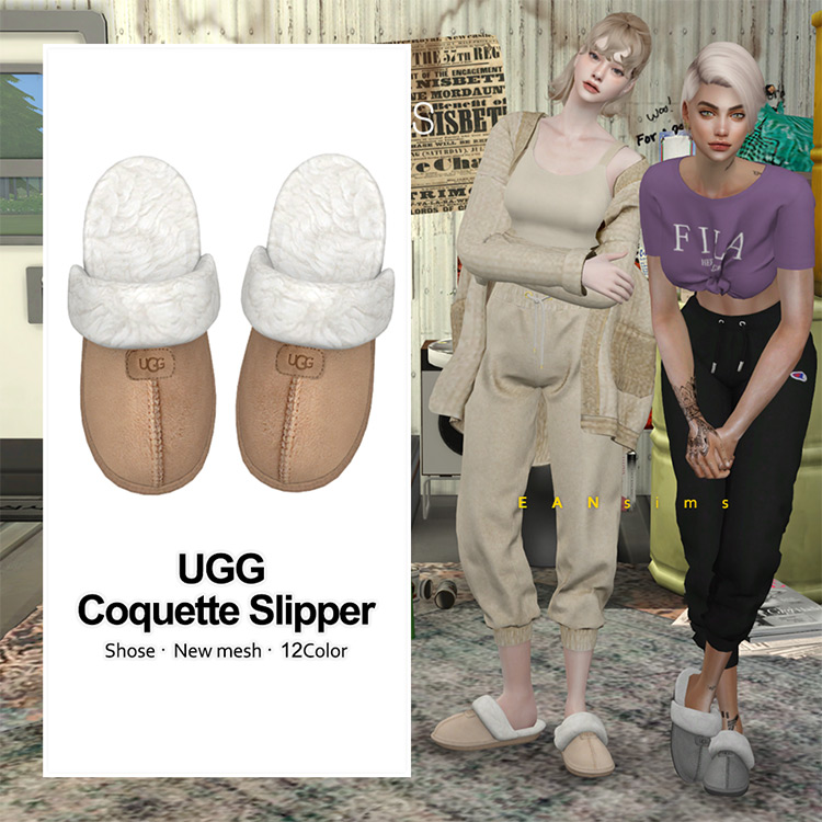 Ugg Coquette Slippers / Sims 4 CC