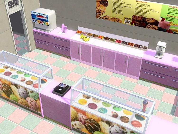Sims 4 CC Ice Cream Parlor Furniture