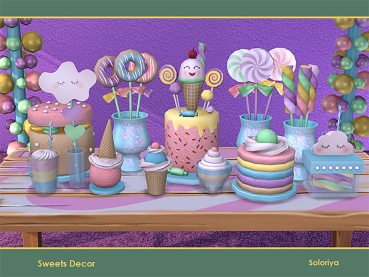 Sims 4 Sweets Decor CC Set